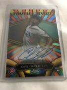 2016 Topps Chrome Rc Youth Impact Carl Edwards Jr Auto /25 Cubs Rare