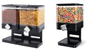 Single Double Cereal Dispenser Dry Food Pasta Nuts Container Storage Machine New