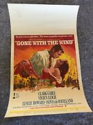 Gone With The Wind 1968 Re-release Orig. Window Card Movie Poster 14x22 F/vf