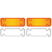 71-72 Chevy And Gmc Pickup Truck Amber Park Parking Light Lamp Lens And Gasket Pair