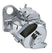 Ultima Polished 6-spd Right Side Drive Transmission For Custom Frames Cable Type