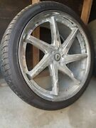 22 Inch Rims And Tires Used 2 Tires Are Good And The Others 2 Not So6619003597
