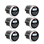 Boss Audio 3 Gauge Hole Marine Bluetooth Mp3 Stereo Boat Receiver 6 Pack