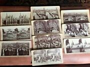 Lot Of 10 J. F. Jarvis Stereoscopic Views Stereograph Cards Includes White House