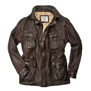 Cockpit Usa Dispatch Motorcycle Jacket Brown Usa Made