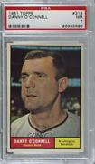 1961 Topps Danny O'connell 318 Psa 7