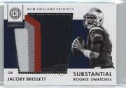 2016 Panini Encased Substantial Swatches Silver /10 Jacoby Brissett 25 Rookie