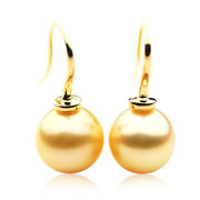 13mm Pacific Pearls® Australian South Sea Golden Pearl Earrings Valentines Gifts