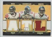 2006 Triple Threads Relic Combos Gold /9 Michael Vick Alge Crumpler Roddy White