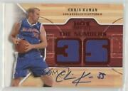 2008-09 Fleer Hot Prospects The Numbers Materials Red /5 Chris Kaman Ng-ck Auto