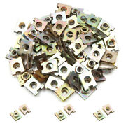 50 X Metal Spring U-type Plate Nut Speed Clips M6 For Car Panel Defense