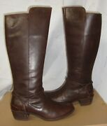 Ugg Cierra Tall Lodge Brown Deco Wrap Ankle Leather Boots Size Us 7 Nib 1008714