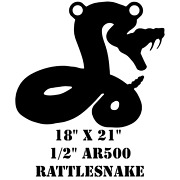 Ar500 Steel 18 X 21 X 1/2 Rattle Snake Target Hunting Practice Serpent Viper
