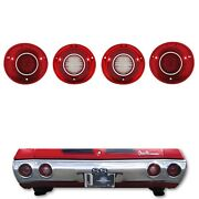 72 Chevy Chevelle Ss And Malibu Led Rear Tail Reverse Back Up Light Lamp Lens Set