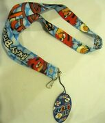 Unisex Thick Blue Angry Birds Lanyard/landyard Id Holder Keychain-new With Tags