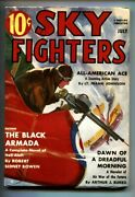 Sky Fighters Pulp July 1938-the Black Armada-wwi Aviation-high Grade