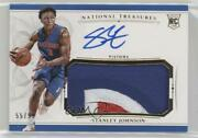 2015-16 Panini National Treasures /99 Stanley Johnson 108 Rpa Rookie Patch Auto