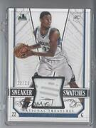 2014 Panini National Treasures Sneaker Swatches /13 Andrew Wiggins Ss-aw Rookie