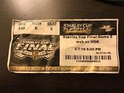 Autographed Stanley Cup Washington Capitals Vegas Knights Game 5 Ticket Ovechkin