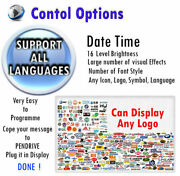 Wifi 15 X 63 Full Color Outdoor Programmable Led Sign Digital Display Board