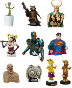 Assorted Coin Banks Vinyl Bust Comic Movies Dc Marvel X-files Lenore Tmnt And More