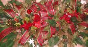 36 X 24 Christmas Valentines Day Holiday Silk Flowers Ribbons Grave Blankets