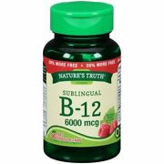Nature's Truth Sublingual B-12 6000 Mcg Berry Flavor 36 Tablets Pack Of 5