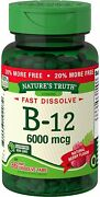 Nature's Truth Sublingual B-12 6000 Mcg Berry Flavor 36 Tablets Pack Of 4