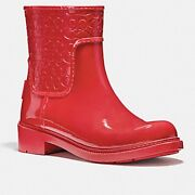 Womenand039s Coach Signature Rain Boots In Red Size 7 Style Number Fg1877