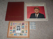 Vintage John F Kennedy Jfk Collectibles Record Album Stamp Collection And Book