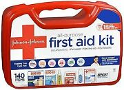 Johnson And Johnson Red Cross All Purpose First Aid Kit 140 Items 1 Kit 5-pack