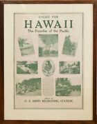 Rare Original Historic Wwi U.s. Army Poster Enlist For Hawaii