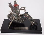 Franklin Mint Pewter Sexy Biker Statue Julie Bell Signature Edition Painted Vers
