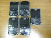 Lot Of 5 Blackberry Bold 9000 1gb Black Atandt As Is For Parts