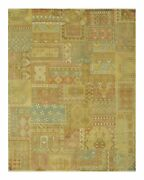 Multicolored Traditional Patch Agra Rug 7and03911 X 9and03910
