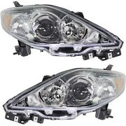 Headlight Set For 2006-2007 Mazda 5 Left And Right Clear Lens 2pc
