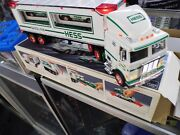 1997 Hess Trucks Toy Truck And Racers New In Box