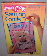 Muppet Babies Sewing Cards Colorforms Jim Henson's 1984 Collectible Sealed Nib