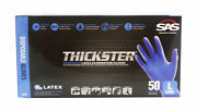 Sas 6603 10-box Case Thickster Textured Safety Latex Gloves, Size Large
