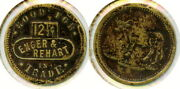 Enger And Rehart 12½c Saloon Token Steer Pictorial Lakeview, Lake Co., Oregon Or