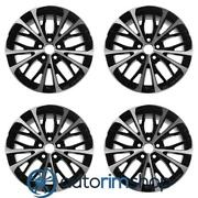 New 18 Replacement Wheels Rims For Toyota Camry 2018-2019 Set Machined Black