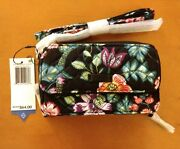 New Vera Bradley Iconic Rfid All In One Crossbody Bag Wristlet In Vines Floral
