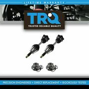 Trq 4 Piece Steering Kit Front Cv Axle Assemblies Wheel Hub And Bearings For Chevy