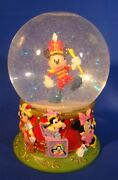 Mickey Mouse Leader Of The Band 75th Anniversary Snow Globe - 1993