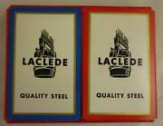 Vtg Rare Laclede Alton Steel Advertising Playing Cards Alton Vandalia Il Complet