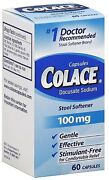 Colace Stool Softner 100 Mg Capsules 60 Ea Pack Of 5