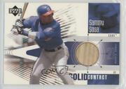 2002 Upper Deck Rookie Debut Solid Contact Sammy Sosa Sc-ss