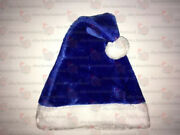 Blue Plush Santa Hat Ships From Usa Not Felt One Or Lot