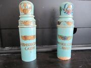 Antique Original Wood And Glass Egyptian Perfume Bottles Lot Of 2 Rare