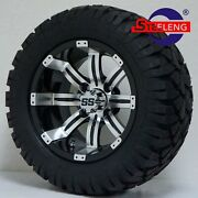 Golf Cart 12 Tempest Wheels/rims And 20 Stinger All Terrain Tires Dot Rated